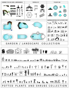 ผลการค้นหารูปภาพสำหรับ landscape architecture gutter symbols in plan Architecture Symbols, Architecture Concept Drawings, Landscape Architecture Drawing, Garden Landscape Design, Architecture Details, Landscape Plans, Cad Blocks Free, Inkscape Tutorials, Interior Sketch