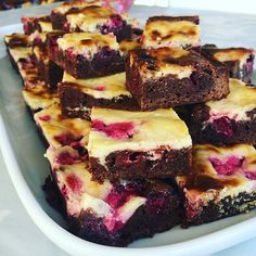 An update on my previous recipe for cheesecake brownies! These are less sweet because of the berries and a great afternoon treat with coff...