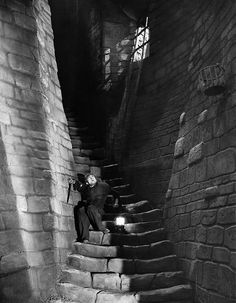 Dwight Frye in Frankenstein dir. James Whale) Set design by Herman Rosse & Charles D. Hall (via) Source: oldhollywood Classic Horror Movies, Classic Films, Horror Films, Frankenstein Film, James Whale, Famous Monsters, Classic Monsters, Vintage Horror, Film Stills