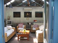 Suite life ... The Woolshed has modern finishes and a pool.