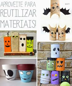 halloween decor diy - 7 dicas fofas para deixar a casa no clima de Halloween! Halloween, Diy, Blue, Home Organization, Traveling, Houses, Do It Yourself, Bricolage, Handyman Projects