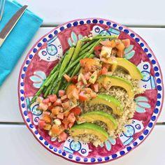 Avocado salsa quinoa salad: vegan, gluten & dairy free | Deliciously Ella