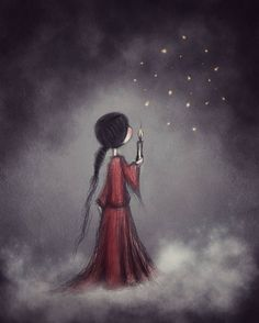 Mystical Art Drawings & Illustration Art Print Dreamy Art