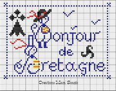 bretagne - breizh - hermine - bzh - point de croix - cross stitch - Blog : http://broderiemimie44.canalblog.com/
