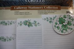 Vintage Corelle Coordinates Callaway Stationery Collection