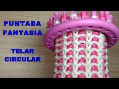Round Loom Knitting, Loom Knitting Stitches, Spool Knitting, Knifty Knitter, Loom Knitting Projects, Easy Knitting, Loom Crochet, Crochet Patterns Amigurumi, Loom Flowers