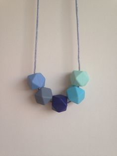 Suzie// Blues//Teething Necklace by BooChew on Etsy