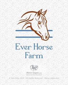 Customized horse logo design created for Thierry Huguenin of Ever Horse Farm. Candy Logo, Summer Tattoo, Farm Logo, Horse Logo, Horse Silhouette, Magazine Layout Design, Horse Farms, Logo Design Inspiration, Custom Logos