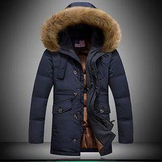 Parka Uomo Giaccone Imbottito Piumino Giubbotto Invernale Cappotto Pelliccia 32   Cappotti e giacche    abbigliamento - Zeppy.io