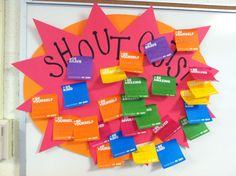 Student Shoutouts! I like this idea because its students being responsible and accountable to notice behaviors they see and appreciate. Students just write on sticky note who they say and what they saw they did. I would set a specific time frame in which students can do this because sometimes it can take away from the class.