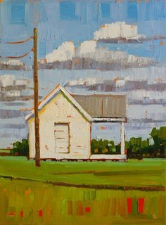 """""""Little White House,"""" by Rene' Wiley by Rene' Wiley Gallery Oil ~ 16 x 12"""