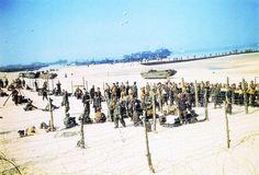 Deze kleurenfoto's van de invasie van Normandië laten een heel nieuw beeld van D-day zien