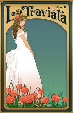 La Traviata Poster by Chris Becker, via Behance