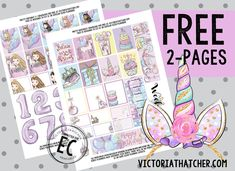 Free Printable Pretty Birthday Planner Stickers from Victoria Thatcher