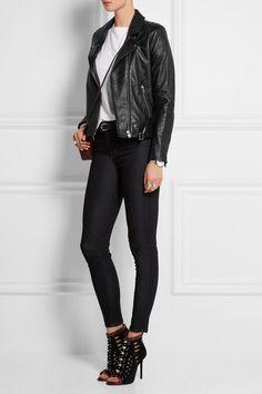 IRO | Jone leather biker jacket | NET-A-PORTER.COM