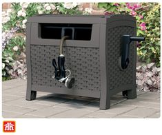 Conceal your garden hose in this stylish and sturdy resin hose reel. Hose Reel, Gardening Tools, Garden Hose, Resin, Stylish, Outdoor Decor, Home Decor, Decoration Home, Room Decor