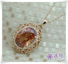 Magnificent Crystal Rhinestone Golden Necklace,US$20.69-VogueBeauty