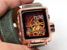 Steampunk Copper 42 mm Apple Watch cover by JoyComplex on Etsy