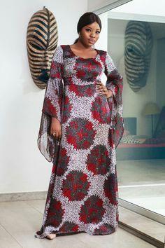 Robe Longue Africaine Fait Avec De La Soie Latest African Fashion Dresses African Fashion Modern African Fashion Ankara