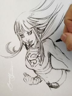 Sketch, Supergirl by eDufRancisco.deviantart.com on @deviantART