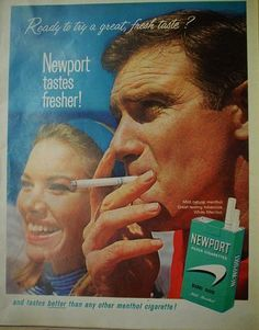 """This add is a good example of card stacking. This ad shows how """"great"""" smoking is and how it has a fresh taste but leaves out valuable information such as the harmful side effects."""
