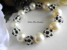 Swarovski Cream Pearl Emerald Crystal by DebraAnnCreations on Etsy