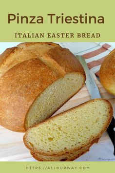 A traditional Italian Eastern Bread. It's a delicious egg bread that is like a brioche but not quite as sweet or rich. It is good eaten any time and typically it is made for Easter morning. It's good as is or toasted. Best Bread Recipe, Bread Recipes, Baking Recipes, Pizza Recipes, Italian Easter Bread, Italian Bread, Italian Pastries, Breakfast Recipes, Dessert Recipes