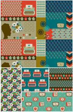 Ruby Star Shining by melody miller faves: typewriters, chevrons, and clocks!