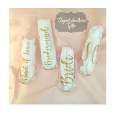 Personalized Champagne Flutes  Bridal Gift by ElegantSouthernGifts