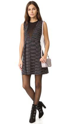 M Missoni Платье с V-образной прозрачной вставкой