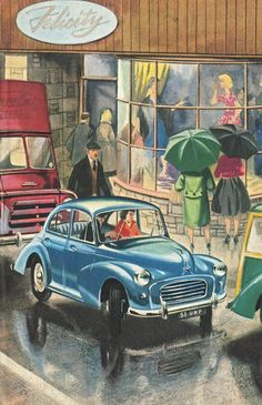 """The Popular Morris Minor 1000"" in  'Story of the Motor Car' Ladybird Books (1962)"