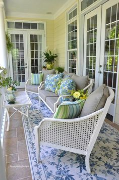 Upper Back Porch - Housepitality Designs Outdoor Rooms, Outdoor Living, Outdoor Decor, Deck With Pergola, Pergola Ideas, Porch Ideas, Porch Kits, Building A Porch, Inviting Home