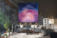 Original Abstract Canvas Art,Large Abstract Canvas Art,acrylic abstract,large oil art,palette knife canvas,acrylic textured art FY0099