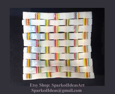 Glass Fusion Dish with Woven Pattern 5x5 by SparkedIdeasArt
