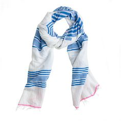 J. Crew lemlem® Hilansha scarf - Not that I need another blue gauzy scarf (I do! I do!) but the vintage feel and pink accents on this one make it almost considerable...
