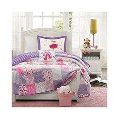 Kids' Quilts - Mizone Kids Twirling Tutu 3 Piece Coverlet Set Multicolor Twin *** Find out more about the great product at the image link.