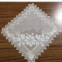 Crochet Doily Diagram, Crochet Squares, Crochet Motif, Crochet Doilies, Crochet Patterns, Fillet Crochet, Hardanger Embroidery, Crochet Tablecloth, Crochet Art
