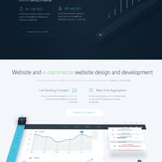 Create a absolutely stunning flat website for SEO firm by Leonid Yershov