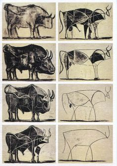 delisandwich:    Cow Studies • Pablo Picasso