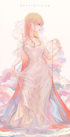 Kai Fine Art is an art website, shows painting and illustration works all over the world. Manga Girl, Chica Anime Manga, Kawaii Anime Girl, Anime Art Girl, Anime Girls, Beautiful Anime Girl, Anime Love, Fantasy Kunst, Fantasy Art