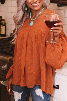2021 Hot Sale New Women Shirts V-neck Lantern-sleeved Plus Size Lantern Sleeve Solid Blouse Ladies Tops Vintage Clothing Clothes Chiffon Shirt, Chiffon Tops, Orange Blouse, Vintage Tops, Clothing Patterns, Shirt Blouses, Shirts, Sleeve Styles, Blouses For Women