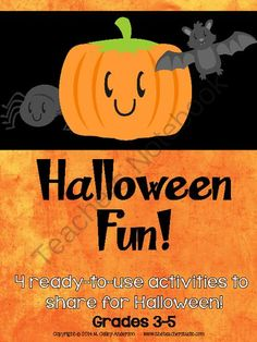 Halloween Fun Learning Activities for Grades 3-5 from Fourth Grade Studio on TeachersNotebook.com -  (8 pages)  - 4 quality instructional activities to use to help you celebrate Halloween!  You can have fun learning!