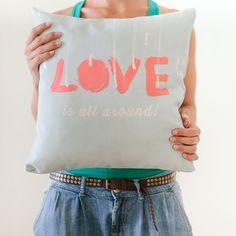 Pillow Cover Throw Pillow Mint Pillow Coral #home #decor #pillow www.loveitsomuch.com