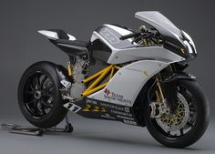 American electric motorcycle manufacturer Mission Motors has recently took the wraps off its new all-electric racing superbike at the Long Beach Progressive International Motorcycle Show. Description from autoevolution.com. I searched for this on bing.com/images