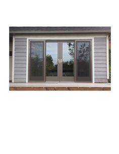 Replaced 3 small outdated windows with 1 large Four Panel Gliding Patio Door to open up the view in this Bellevue home.