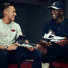 Two global icons. One legendary collaboration. ⚽️🏀 The NJR x JORDAN collection is available now, exclusively in the Nike Football App.