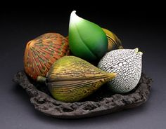 Another ceramic seed stack by Andy Rogers. I'm in love with his work!