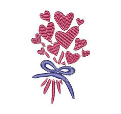 Hearts, love, Valentine, bunch of hearts, machine embroidery design