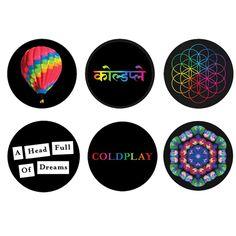 Coldplay A Head Full Of Dreams Badge Set