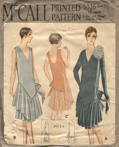 1927 McCall's #5026 Dress Pattern. By vintagepatterns.wikia.com